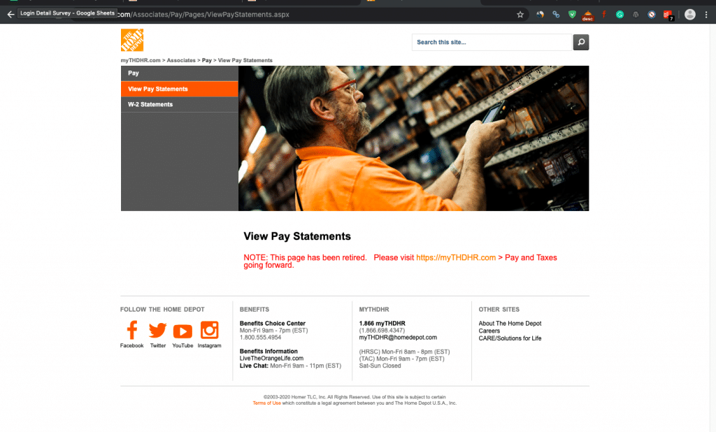 How to get Pay Stubs from Home Depot?